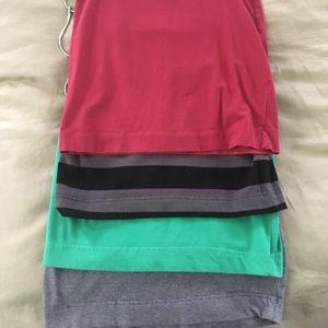 4 pack H&M basic mini skirt